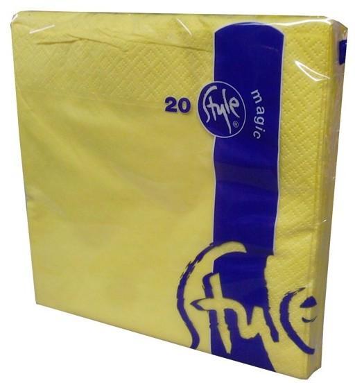 Ubrousky 2vrst.St.Magic-žluté 33x33,20ks